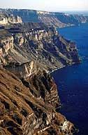 300m high caldera cliffs of Thera (Santorini), Greece --> Santorini photo gallery